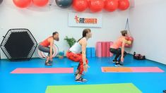 jednoduchy-drep-a-drep-s-vyskokom-a-otockou Gym Equipment, Basketball Court, Exercise, Fitness, Sports, Ejercicio, Excercise, Sport, Tone It Up