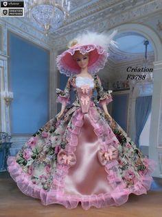 """Robe Barbie """" Grace """" Tenue Marquise pour poupée Barbie Silkstone Fashion…"""