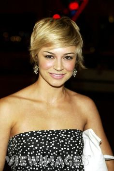 Samaire Armstrong. Another person who looks so fantastic with short hair.