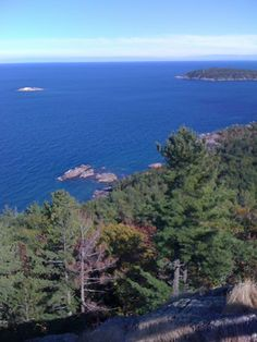 Lake Superior from the top of Sugar Loaf Mountain, upper peninsula, Michigan