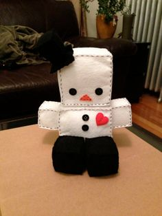 Robot Doll SnowBot by PaperAndPlayThings on Etsy