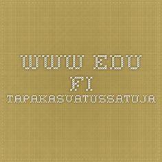 www.edu.fi tapakasvatussatuja Classroom, Math Equations, Class Room, Squad