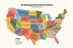 The Mainland USA According to Common Sense Print  $25.95  per poster