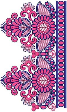 Superb Embroidery Design For Attractive Lace 15405