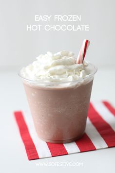 Easy and Quick Frozen Hot Chocolate. Yummy!