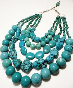 5 strand turquoise necklace