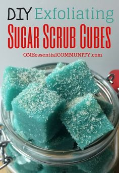 Oh, my! I love this! Have you tried these? Exfoliating sugar scrub cubes are so easy to make and my skin has never been smoother. But what I really love is that there are recipes for essential oil blends for cellulite, calming, uplifting, energizing, and more! I'll be making more for me and to give as gifts.