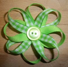 Ribbon Flower Tutorial « Domesticating Michelle