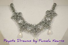 Chainmaille Snowflake necklace