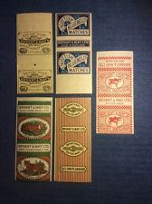 Vintage Matchbox complete labels - Bryant & May - Mint ungummed