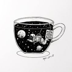 long time no see?I had been so busy for those two months because i got married. we have 14 years relationship and now finally finished Art And Illustration, Illustration Inspiration, Ink Illustrations, Black And White Illustration, Character Illustration, Watercolor Illustration, Space Drawings, Art Drawings Sketches, Tattoo Sketches