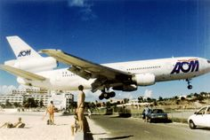 This plane just made the landing at St. Maarten Airport. #Insane