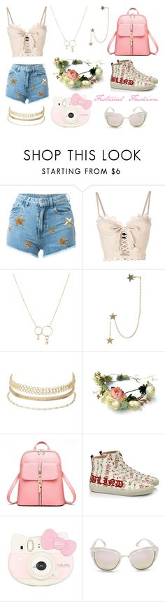 """""""Festival Fashion"""" by lovinggivenchy ❤ liked on Polyvore featuring Chiara Ferragni, Puma, Zimmermann, Charlotte Russe, Gucci, Hello Kitty and Quay"""