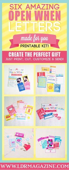 Sweet image in open when letters printable