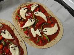 Ghost Pizza Uncooked