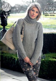 Chunky knitted jumper - King Cole