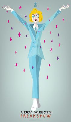 American horror story Elsa Mars ~ AHS Freak Show by Patricio Oliver American Horror Story Series, Creepy, Scary, Pop Art, Horror Show, Vintage Horror, Evan Peters, Cultura Pop, Coven