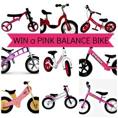 Win your choice of ANY PINK BALANCE BIKE we sell! The perfect gift for your pink loving princess on Christmas 2013. #tikesbikes