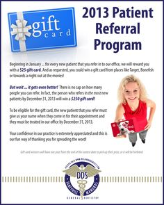 dental thank you patient cards | New Patient Referral Program | Bel Air MD Dentist Taneyhill and ...
