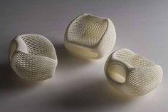 keisuke fujiwara: wrapping chair molded from styrofoam mesh - designboom | architecture & design magazine