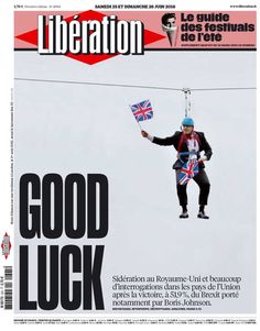 Britain today as seen on a great front cover 'A Dangling Chump' Brexit 24 June 2016