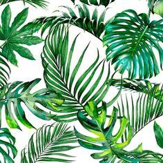 Verdure Forest | Tropical Forest  100 % Cotton  140 cm | 280cm Stuart Graham, Silver Mist, Conversational Prints, Tropical Forest, Little Monsters, Hibiscus, Sea Shells, Mists, Plant Leaves