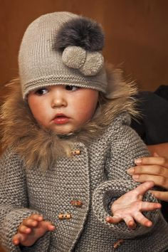 Little Lady ~ Grey Knit Hat ~ Sweater