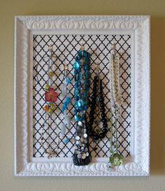 easy diy jewelry storage!