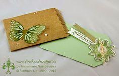 Stampin' Up! by First Hand Emotion: Schmetterlingsgruss in Grüntönen...