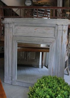 19c French mirror with original paint