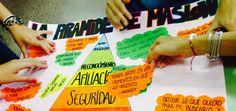 Alumna@s creando Pirámide de Maslow de acuerdo con sus intereses y motivaciones.