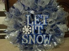 Deco Mesh Winter Wreath