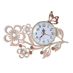 Five Petaled Flowers  Giftgarden Wall Art Clock for Friends Gift  Wood #Clocks