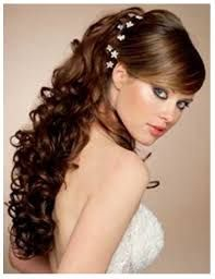 Resultado de imagen para peinados de 15 años semirecogidos
