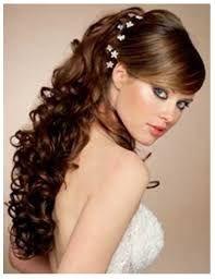 Resultado de imagen para peinados de xv años con tocado cabello suelto