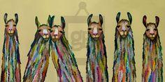 Six Lively Llamas Eli Halpin