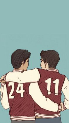 I just realised. Scott is the one on the left and Stiles is on the right, so does that mean their wearing each other's jackets?