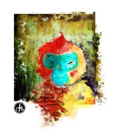 Drawing Monkeys Until They're Blue in the Face – Crystal Smith - digital painting of monkey