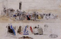 Les Courses à Deauville : Eugène Boudin