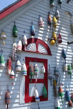 Summertime ~ Lobster Buoys in Maine