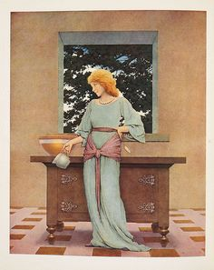 """Maxfield Parrish, """"The Knave of Hearts"""""""