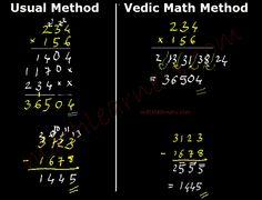 Vedic Mathematics deals with shortcut techniques regular arithmetics.       mathlearners.com