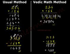 Vedic Mathematics - Truly amazing tool to carry out shortcuts for basic arithmetics in mathematics like subtraction, multiplication, division, squaring a number, etc.