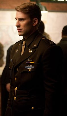 "Chris Evans as Steve Rogers/Captain America in ""Captain America: The First Avenger."" #ChrisEvans #SteveRogers #CaptainAmerica"