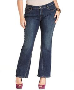 Levi's Plus Size Jeans, Twist Bootcut, Worn Day Wash - Plus Size Jeans - Plus Sizes - Macy's
