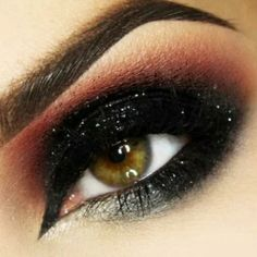 Smoky and sparkly, the perfect eyeshadow look for the holiday season.