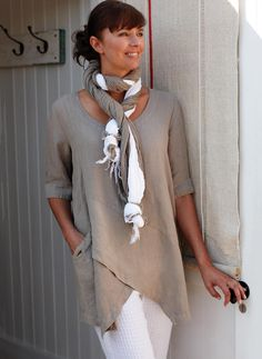 Solid High Neckline Long Sleeve Knee-Length A-line Dress - Floryday