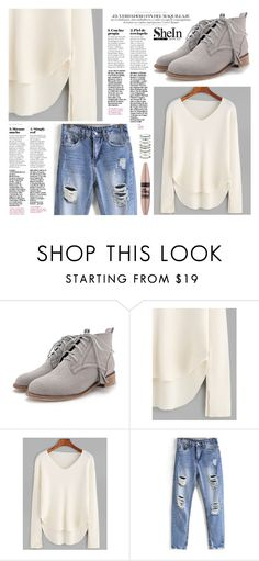 """""""OOTD - White Sweater"""" by by-jwp ❤ liked on Polyvore featuring Maybelline and Accessorize"""