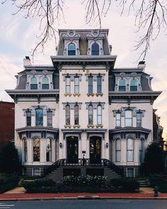 Second Empire Logan Circle (Washington D. Victorian Architecture, Beautiful Architecture, Abandoned Houses, Old Houses, Empire House, Beautiful Homes, Beautiful Places, Real Estate Buyers, Second Empire