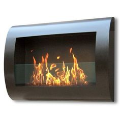 Anywhere Fireplaces Chelsea Wall Mount Bio Ethanol Fireplace | AllModern